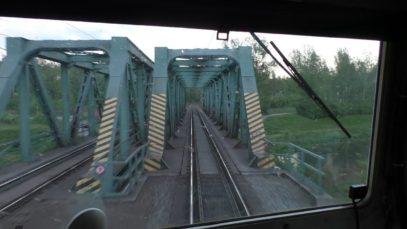 Cabview z lokomotivy řady 130