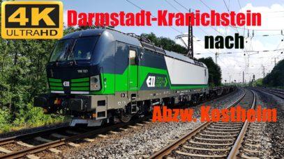 Führerstandsmitfahrt Darmstadt – Kranichstein nach Kostheim über Frankfurt-Höchst, Isenburg,