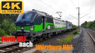 Führerstandsmitfahrt Fürth HBF nach Würzburg HBF über Neustadt an der Aisch,Kitzingen