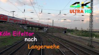 Führerstandsmitfahrt Köln Eifeltor nach Langerwehe BF über Köln Süd, Ehrenfeld , Horrem, Düren