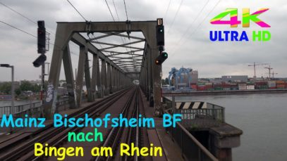 Führerstandsmitfahrt Mainz Bischofsheim BF nach Bingen über Mainz Mombach, Gau-Algesheim