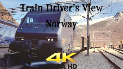 Train Driver's View: Flåm to Voss on a spring evening in 4K ULTRA HD