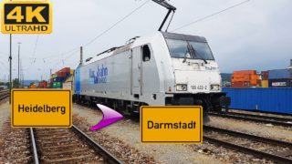 Führerstandsmitfahrt Heidelberg HBF nach Darmstadt HBF über Weinheim,Bensheim,Eberstadt