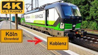 Führerstandsmitfahrt Köln Ehrenfeld nach Koblenz HBF über Eifeltor,Bonn,Remagen,Andernach