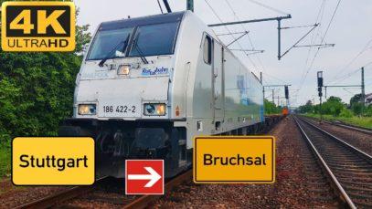 Führerstandsmitfahrt Stuttgarter Hafen nach Bruchsal über Ludwigsburg,Mühlacker,Bretten