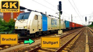 ührerstandsmitfahrt Bruchsal nach Stuttgarter Hafen über Bretten,Mühlacker,Ludwigsburg