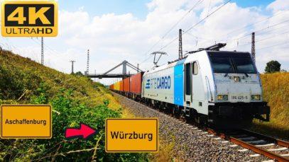 Führerstandsmitfahrt Aschaffenburg HBF nach Würzburg HBF über Veitshöchheim, Gemünden, Lohr