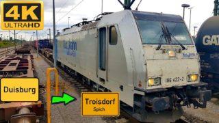 Führerstandsmitfahrt Duisburg Ruhrort Hafen nach Troisdorf über Immigrath,Opladen