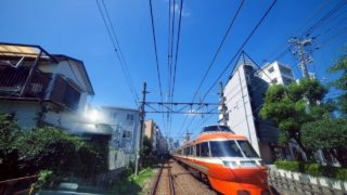 [4K60p超広角前面展望] 小田急特急ロマンスカー VSE 上り 箱根湯本~新宿 Odakyu Romancecar