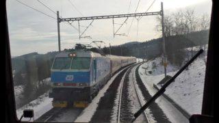 Cabview z lokomotivy řady 162
