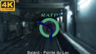 EN CABINE SUR LA LIGNE 8 DU MÉTRO RATP PARIS 4K