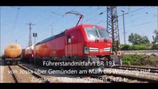 Führerstandmitfahrt BR 193 Jossa – Gemünden- Würzburg (HD)