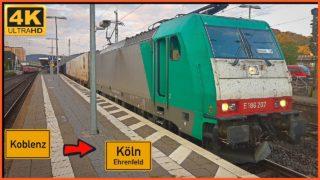 Führerstandsmitfahrt Koblenz HBF nach Köln Ehrenfeld über Neuwied,Linz,Troisdorf,Gremberg