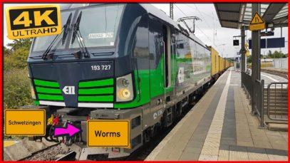 Führerstandsmitfahrt Schwetzingen HBF nach Worms HBF über Mannheim,Ludwigshafen,Oggersheim