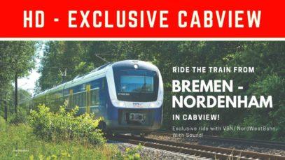 POV Cabview Führerstandsmitfahrt Bremen Nordenham RS4 NordWestBahn VBN
