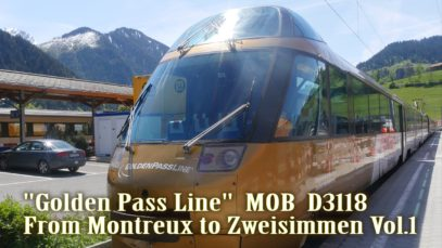 CAB View 'Montreux–Oberland Bernois railway' Vol.1