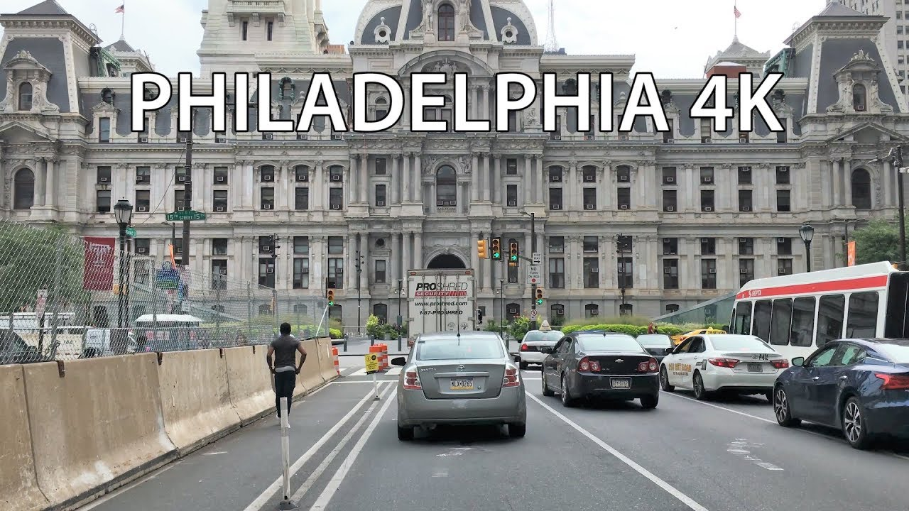 Drive 4K – The Most Historic Street in the US – Philadelphia USA