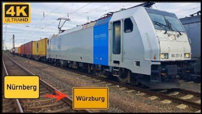 Führerstandsmitfahrt Nürnberg Hafen nach Würzburg HBF über Neustadt an der Aisch,Kitzingen