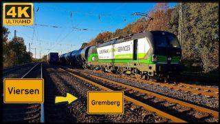Führerstandsmitfahrt Viersen HBF nach Gremberg über Mönchengladbach,Rheydt