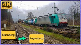 Führerstandsmitfahrt Nürnberg RBF GBF nach Regensburg Hbf über Feucht,Neumarkt,Undorf.