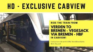 Cabview / Train Drivers View / Cabride Verden to Bremen Vegesack / Führerstandmitfahrt / VBN