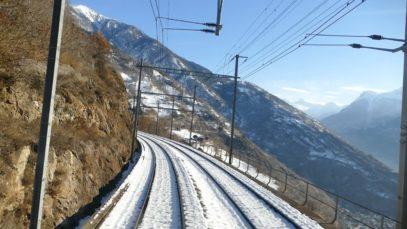 Lötschberg alpine crossing cab ride from Basel to Brig (through Switzerland)