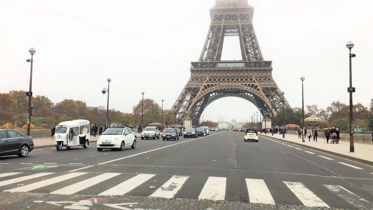 Paris Drive 4K – Eiffel Tower District – France