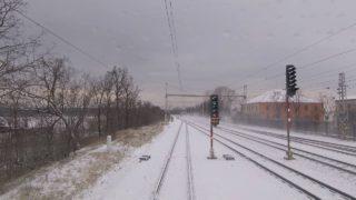 Pohled strojvedoucího z kabiny vlaku: Mor. Písek – Hodonín – Břeclav (QHD 2K7 realtime)