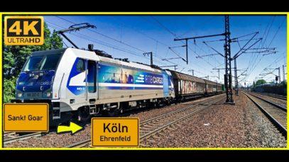 【4K】 Führerstandsmitfahrt Werlau nach Köln Ehrenfeld über Koblenz,Remagen,Bonn,Eifeltor