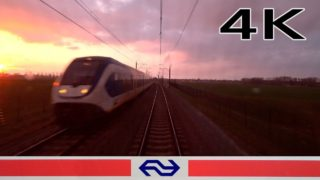 A Train Driver's Sunset 4K CABVIEW HOLLAND Zwolle – Amsterdam SLT 13apr 2019