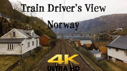 Train Driver's View: Spring has reached the Voss Line in 4K UltraHD
