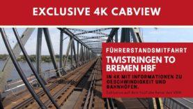 4K Führerstandsmitfahrt NordWestBahn RS2 Twistringen – Bremen HBF