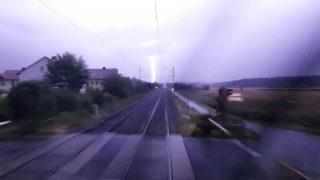 Im Gewitter Führerstandsmitfahrt bei Nacht von Bamberg nach Nürnberg