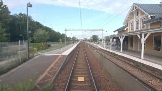 Cab ride train 1041 Kalmar-Alvesta