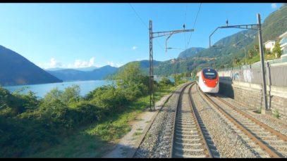 4K Cab Ride Mendrisio – Bellinzona – Olten – Cornaux, Switzerland [08.2019]
