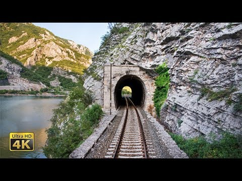 4K CABVIEW Sarajevo – Capljina – 99 tunnels from Continental to Mediterranean Bosnia and Herzegovina