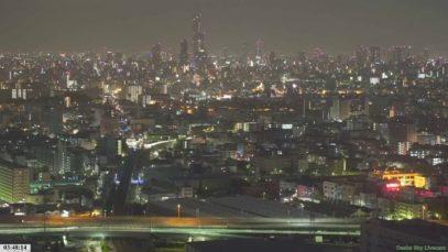 大阪の空からライブ 夜景~朝景~昼景~夕焼けをライブ配信 大阪・情報カメラ/ Osaka Live Stream 4