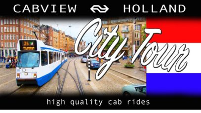 Amsterdam City Tour CABVIEW HOLLAND [TRAMWAY] Electrische Museumtramlijn Amsterdam 18aug 2019