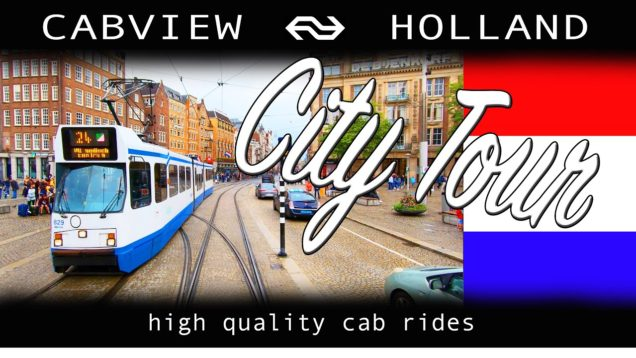 Amsterdam City Tour CABVIEW HOLLAND [TRAMWAY] Electrische Museumtramlijn Amsterdam 18aug 2019