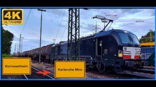 Führerstandsmitfahrt Cab Ride Kornwestheim nach Karlsruhe Miro über Ludwigsburg,Pforzheim