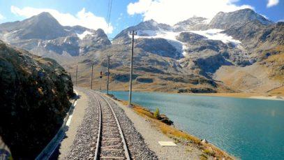 Cab ride St. Moritz – Tirano (Bernina pass), Switzerland to Italy [10.2019]