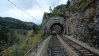 "Driver's Eye View of Austria's legendary ""Semmering Railway"" – Payerbach to to Mürzzuschlag"