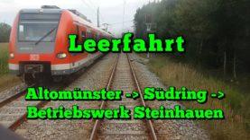 Führerstandsmitfahrt 2018 S-Bahn München – Altomünster – Steinhausen (Leerfahrt)