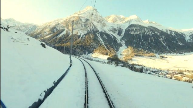 4K Cab ride Samedan – Bergün, Switzerland [01.2020]