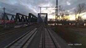 Führerstandsmitfahrt #037 – Im Sonnenuntergang nach Bremen.