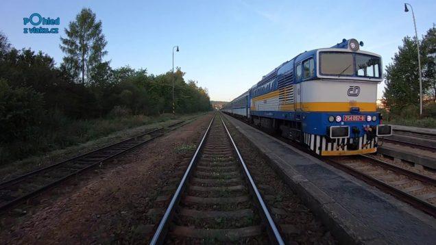 Plzeň hl. nádraží – Furth im Wald / POHLED NA TRAŤ Z ČELA SOUPRAVY / HD KVALITA