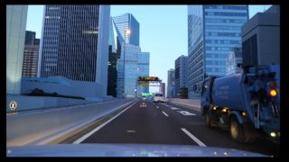 Tokyo morning drive 首都高 辰巳PA 晴海IC 2020
