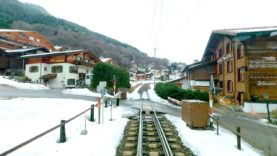 4K Cab ride Landquart – St Moritz (1250m climb) with snowfall [02.2020]