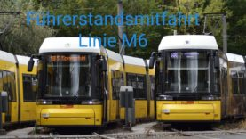 Berliner Führerstandsmitfahrt Linie M6 S Hackescher Markt- Hellersdorf Riesaerstr.
