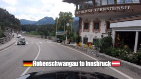 Driving from Hohenschwangau Germany to Innsbruck Austria in 4K